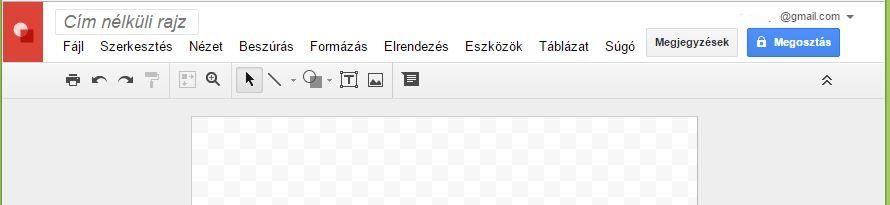 Google Rajz Eszköztár