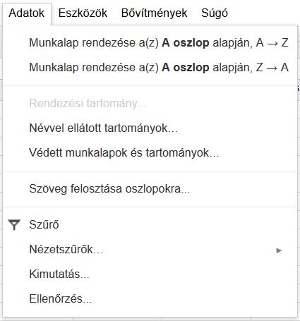 Google-Tablazat-Adatok-menü