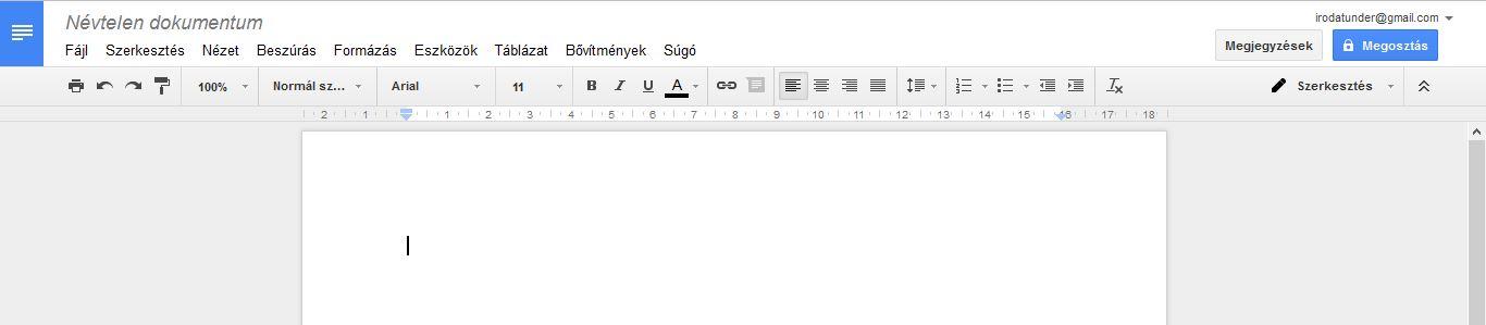 Google-dokumentum-fejlec