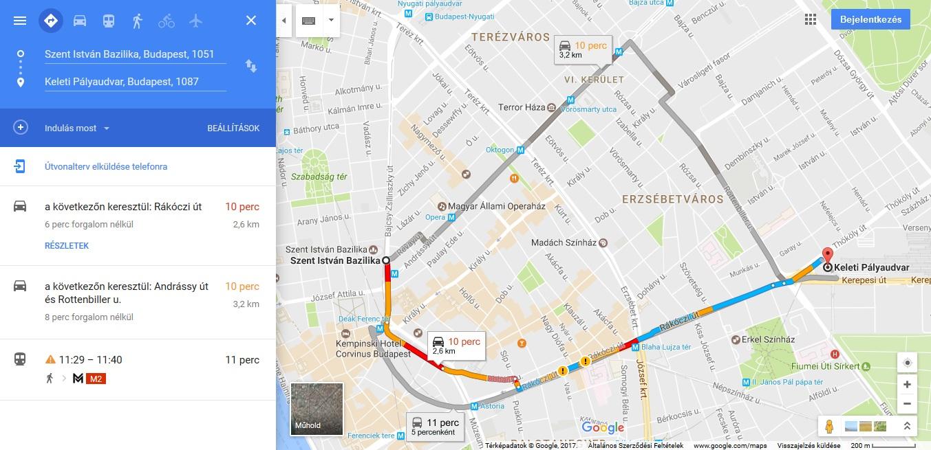 térkép utvonalterv Google Térkép: Lássuk, hogyan is kell útvonalat tervezni  térkép utvonalterv